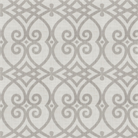 02616 Scroll Dove Grey Linen Drapery Fabric