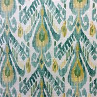Mizu Jade Woven Ikat Upholstery Fabric