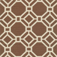 Alroy Sussex Cocoa Geometric Cotton Drapery Fabric by Swavelle Mill Creek