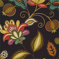 Daisetta Brompton Amazon Cotton Floral Drapery Fabric by Swavelle Mill Creek