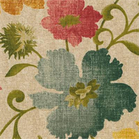 Graffique Cliffside Oatmeal Floral Drapery Fabric by Swavelle Mill Creek