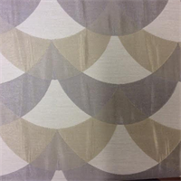 Silver Silver Loop Design Drapery Fabric
