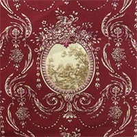 Etienne Rally Garnet Floral Cameo Cotton Drapery Fabric by Swavelle Mill Creek