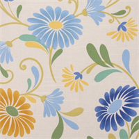 Baylis Cornsilk Floral Drapery Fabric by Swavelle Mill Creek