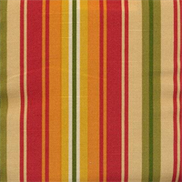 Dillahan Brompton Chili Cotton Stripe Drapery Fabric by Swavelle Mill Creek