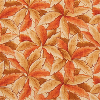 Chama Cliffside Autumn Floral Leaves Drapery Fabric by Swavelle Mill Creek