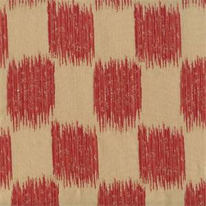 Ikat Squares 72976-RF Scarlet Drapery Fabric by Richtex Home