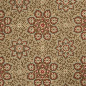 Floral Medallion 73004-RF Scarlet Drapery Fabric by Richtex Home