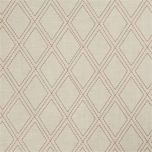 Dashed Diamond 72997-RF Scarlet Embroidered Drapery Fabric by Richtex Home