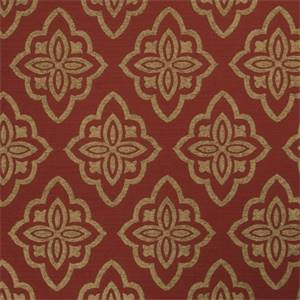 Large Floral Diamond 72980-RF Scarlet Upholstery Fabric by Richtex Home