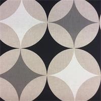 Le Soto 45 Black/Linen Geometric Drapery Fabric