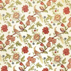 Floral 07974-RF Punch Drapery Fabric by Richtex Home