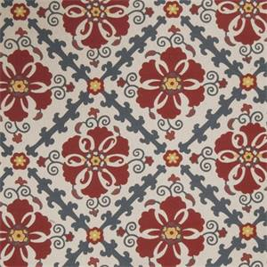 Floral Medallion 72978-RF Punch Woven Upholstery Fabric by Richtex Home