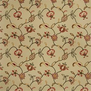 Floral Embroidered 72999-RF Punch Drapery Fabric by Richtex Home