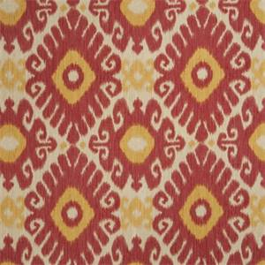 Ikat Floral 72464-RF Punch Drapery Fabric by Richtex Home