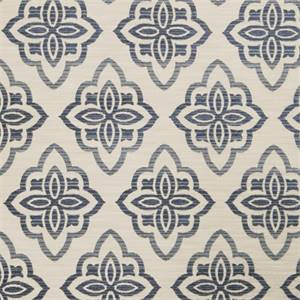 Large Floral Diamond 72980-RF Indigo Upholstery Fabric by Richtex Home