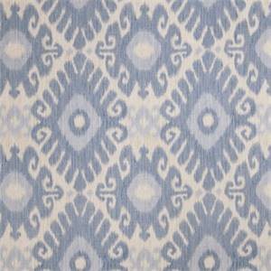 Ikat Floral 72464-RF Denim Drapery Fabric by Richtex Home