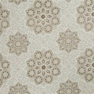 Floral Medallion 73004-RF Dove Gray Drapery Fabric by Richtex Home