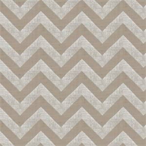 Large Metallic Chevron Stripe 44689-RF Silver Drapery Fabric by Richtex Home