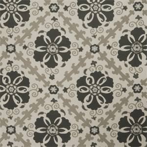 Floral Medallion 72978-RF Dove Gray Upholstery Fabric
