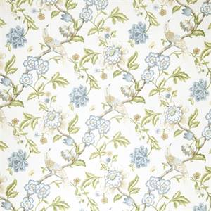 Floral 07974-RF Denim Drapery Fabric by Richtex Home