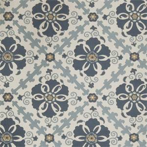 Floral Medallion 72978-RF Chambray Woven Upholstery Fabric by Richtex Home