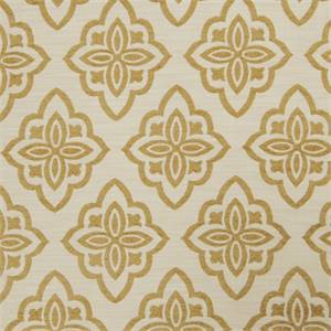 Large Floral Diamond 72980-RF Cashew Upholstery Fabric by Richtex Home
