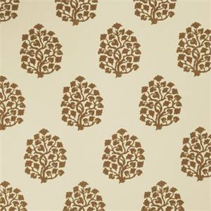 Floral Embossed 73002-RF Cashew Drapery Fabric by Richtex Home