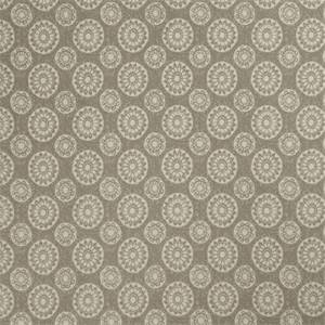 Geometric Medallion 72991-RF Dove Gray Cotton Drapery Fabric by Richtex Home