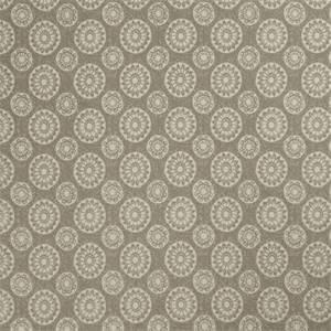 Geometric Medallion 72991-RF Dove Gray Cotton Drapery Fabric by Richtex Home