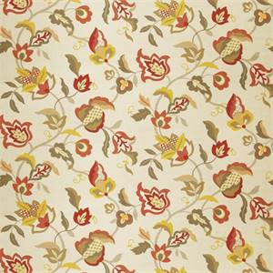 Floral 72993-RF Lemon Zest Drapery Fabric by Richtex Home