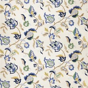 Floral 72993-RF Indigo Drapery Fabric by Richtex Home