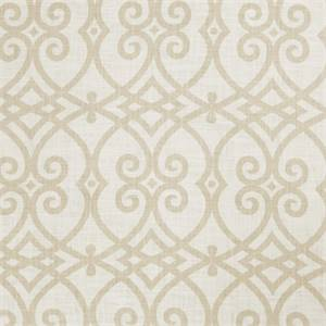 Large Geometric 73007-RF Cashew Drapery Fabric by Richtex Home