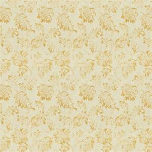 Large Floral 72995-RF Cashew Drapery Fabric by Richtex Home