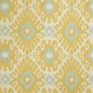 Ikat Floral 72464-RF Lemon Zest Drapery Fabric by Richtex Home