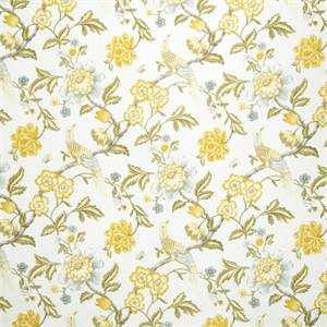 Floral 07974-RF Lemon Zest Drapery Fabric by Richtex Home