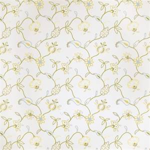 Floral Embroidered 72999-RF Lemon Zest Drapery Fabric by Richtex Home