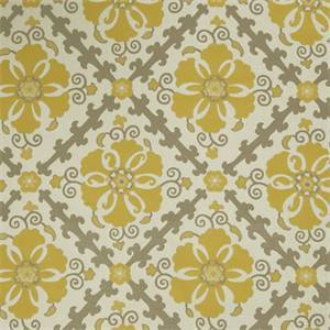 Floral Medallion 72978-RF Lemon Zest Woven Upholstery Fabric by Richtex Home