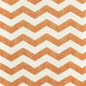 Large Chevron Stripe 44447-RF Tangerine Drapery Fabric by Richtex Home