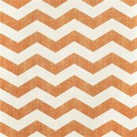 Large Chevron Stripe 44447-RF Tangerine Drapery Fabric by Richtex Home