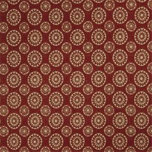 Geometric Medallion 72991-RF Punch Cotton Drapery Fabric by Richtex Home