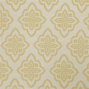 Large Floral Diamond 72980-RF Lemon Zest Upholstery Fabric