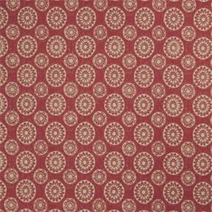 Geometric Medallion 72991-RF Redbud Cotton Drapery Fabric by Richtex Home