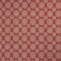 Geometric Medallion 72991-RF Redbud Cotton Drapery Fabric by Richtex Home
