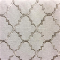 Chivon Cloud Embroidered Geometric Drapery Fabric by Swavelle Mill Creek