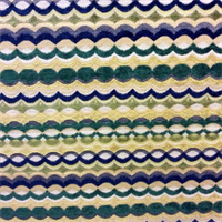 Balvine Emerald Green Chenille Stripe Upholstery Fabric by Swavelle Mill Creek