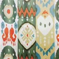 Linda Rainbow Woven Ikat Upholstery Fabric