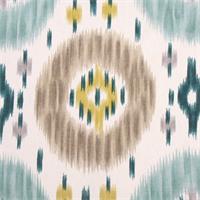 Duvall Lagoon Suzani Ikat Print Drapery Fabric