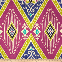 Ikat Diamond Jewel Velvet Upholstery Fabric by Iman