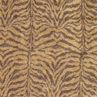 Tigra Mocha Animal Design Chenille Upholstery Fabric